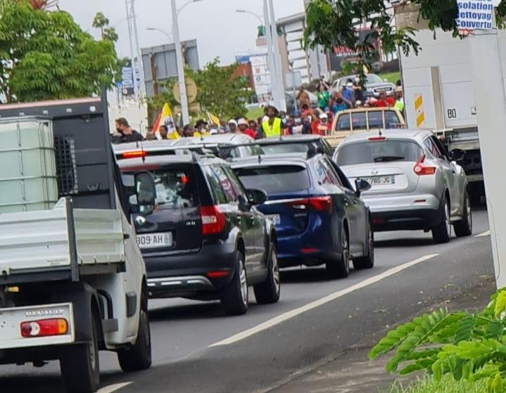 Jarry bloqué par la mobilisation générale lancée par l'UGTG