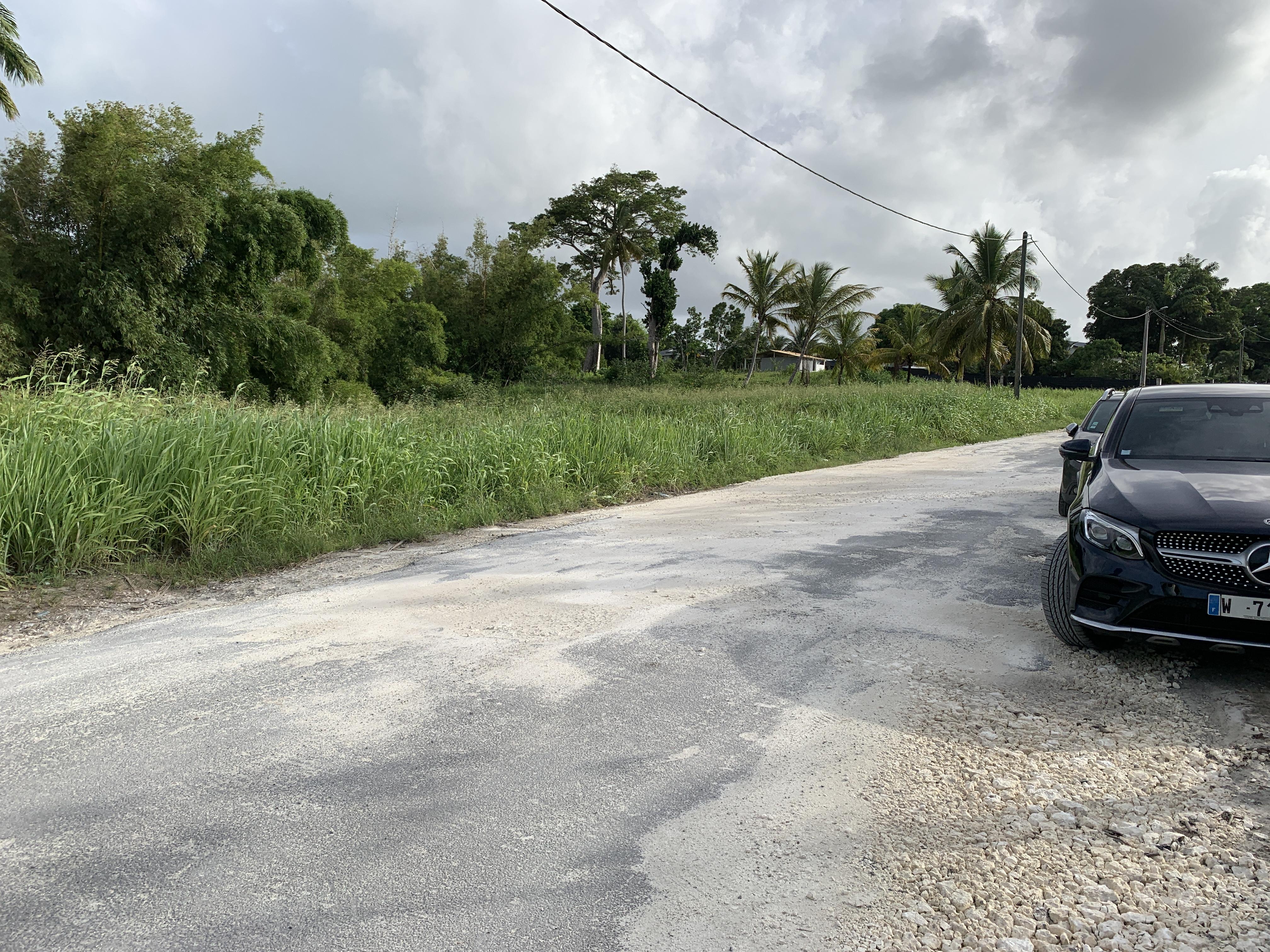 Des habitants du Moule réparent eux-mêmes une route menant vers Boisvin