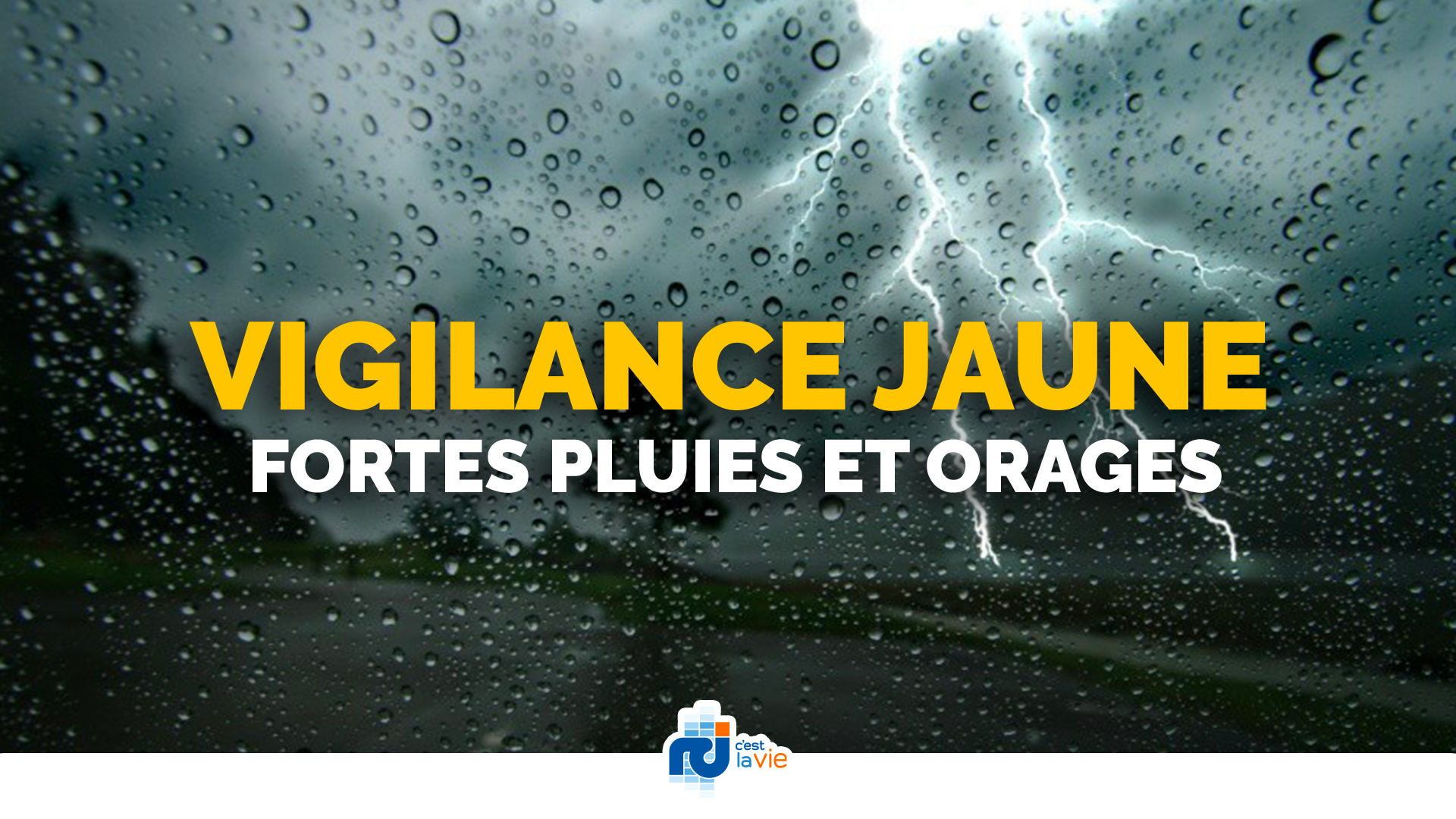 Vigilance jaune : d'intenses précipitations orageuses attendues ce vendredi