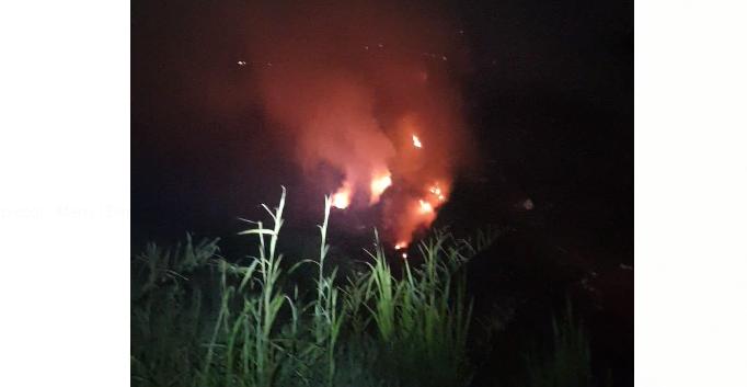 L'incendie a repris à la décharge d'Anse Céron