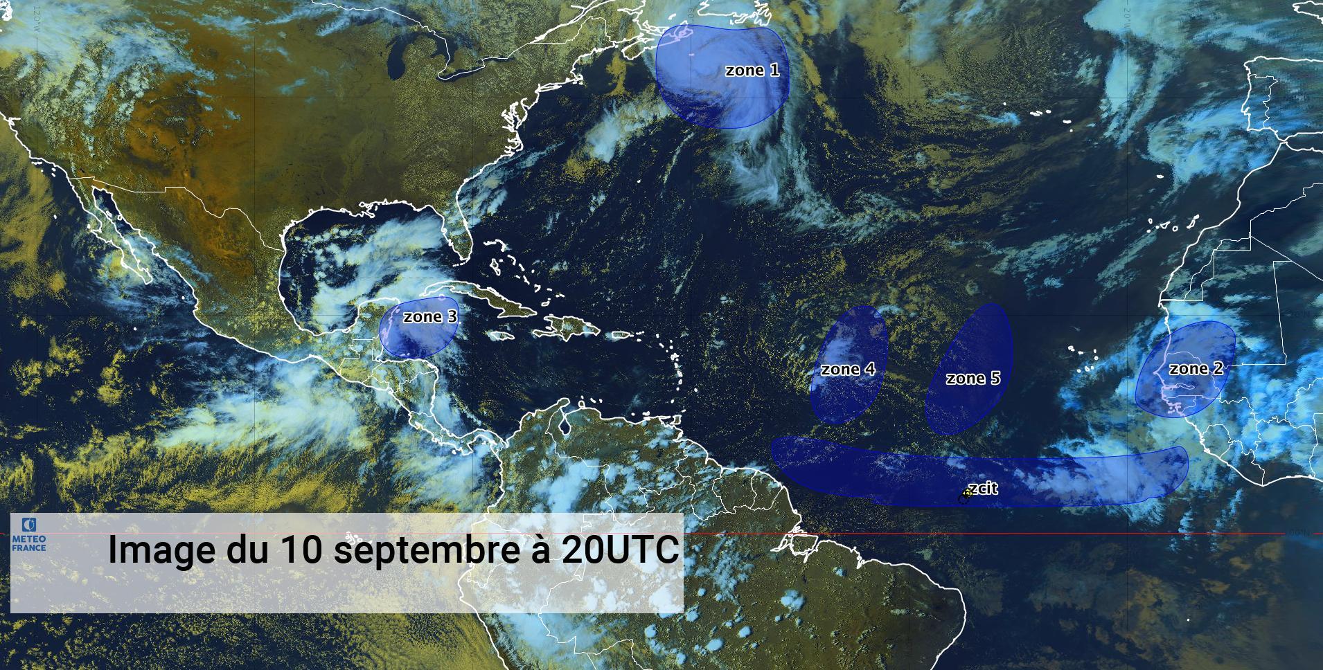 Larry toujours actif, 4 ondes tropicales en circulation (bulletin du 10/09/21)