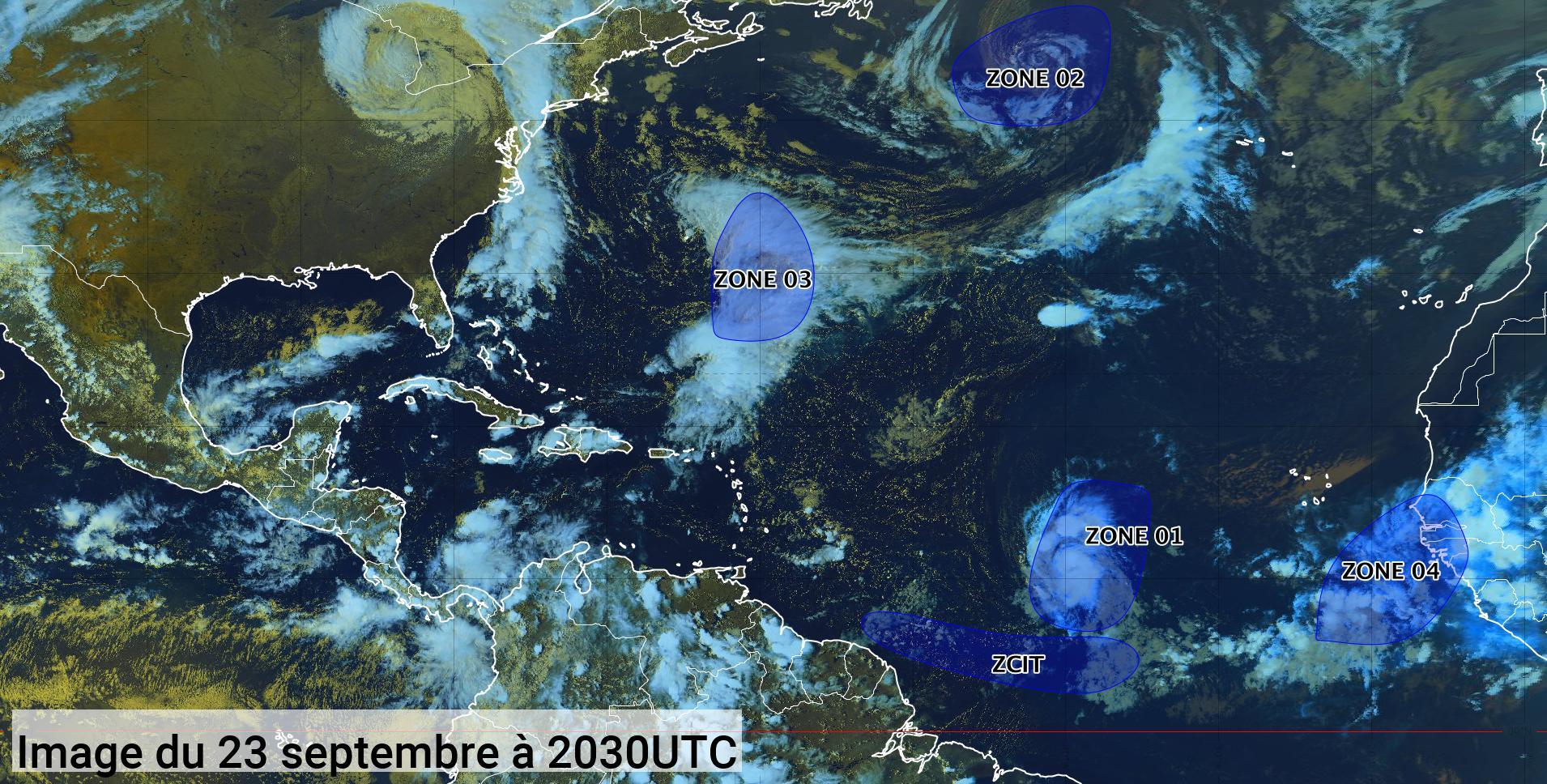 La tempête tropicale Sam se renforce rapidement (bulletin du 23/09/21)