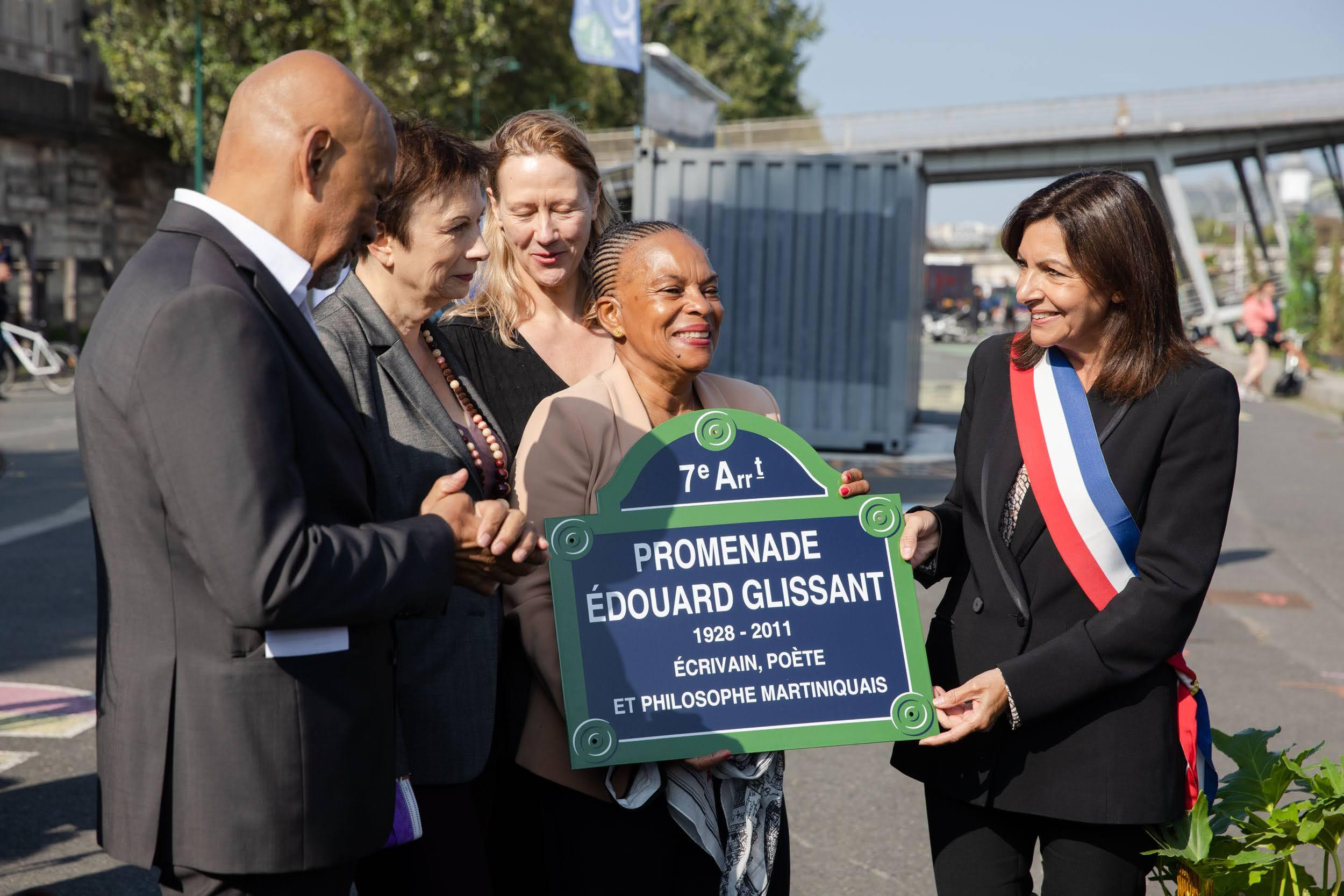 Une promenade au nom d'Edouard Glissant inaugurée à Paris
