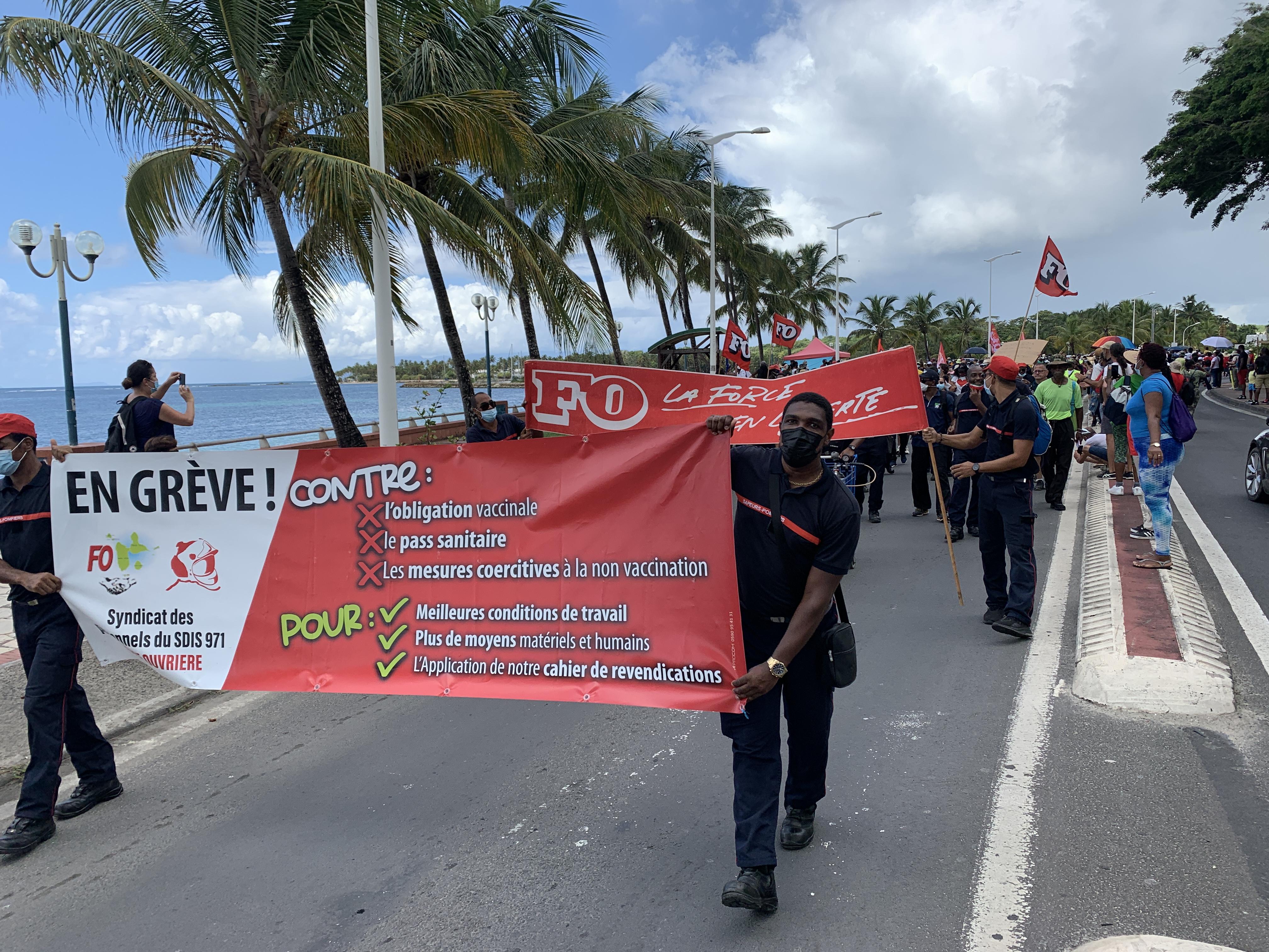 Sainte-Anne : nouvelle manifestation anti pass sanitaire