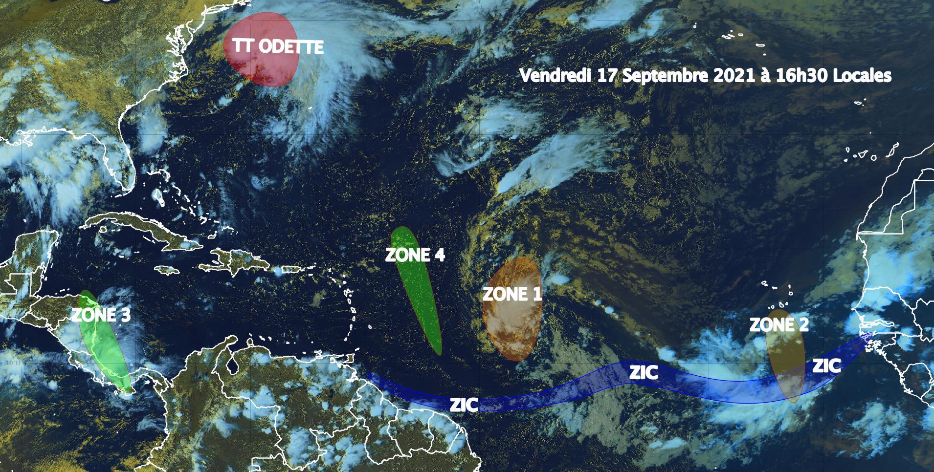 Une onde tropicale au large des Petites Antilles présente un fort potentiel de renforcement