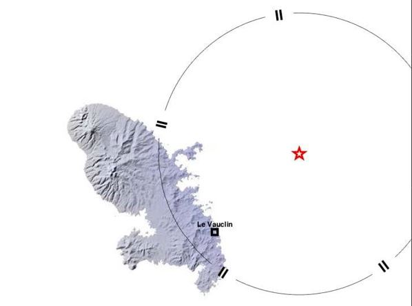 Un séisme d'une magnitude de 3.9 sur l'échelle de Richter ressenti en Martinique