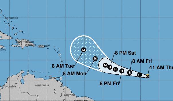 Naissance de la tempête Sam à 2800 kilomètres de l'Arc Antillais