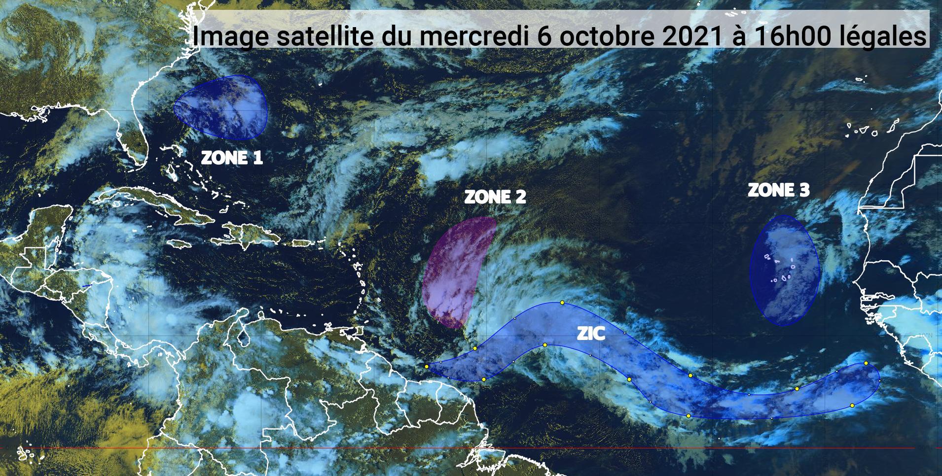 Deux ondes tropicales devraient concerner l'arc antillais (bulletin du 6/10/21)