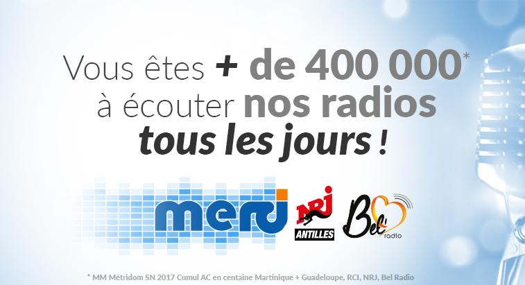 RCI, NRJ Antilles et Bel' Radio