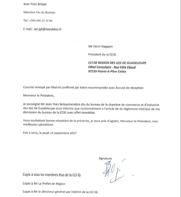Lettre De Demission: La Porte De Sortie S'entrouvre Pour Nagapin