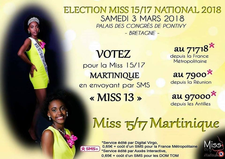 Votes Miss 15/17 Martinique