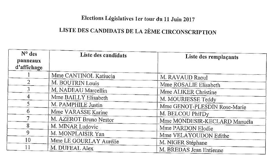 liste candidats 2e circonscription