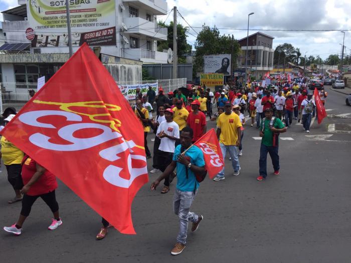 1er mai syndical unitaire et mémoriel dans les rues de Pointe-à-Pitre