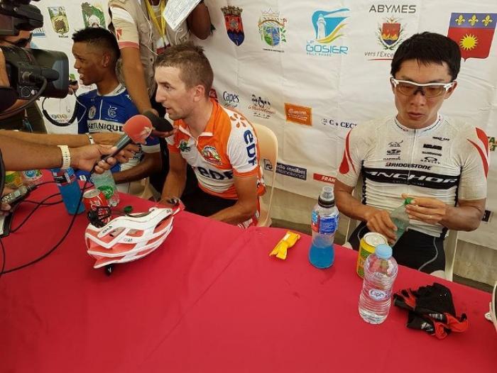2e étape - 1er tronçon : Nicolas Thomasson vainqueur de l'étape, Cédric Eustache maillot jaune