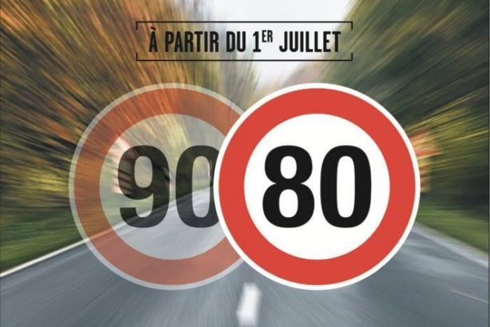 Abaissement de la vitesse à 80 km/h sur les routes secondaires à partir du 1er juillet