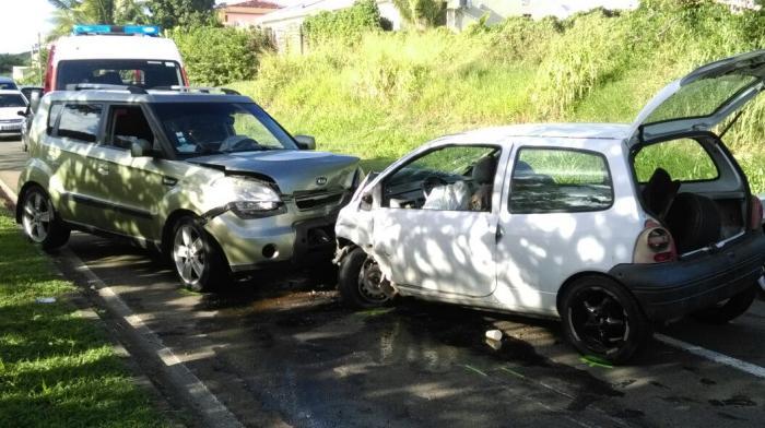 Accident de la circulation sur la route des plages