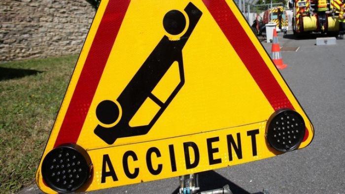 Accident entre un deux-roues et un piéton devant Milénis