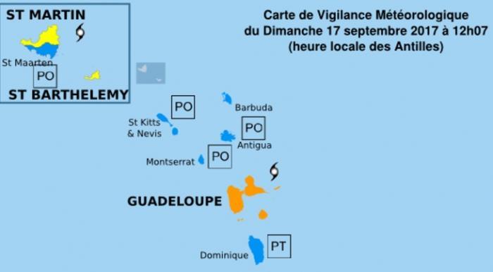 ALERTE MARIA : la Guadeloupe passe en vigilance orange cyclone