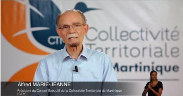 Alfred Marie-Jeanne présente ses voeux aux Martiniquais