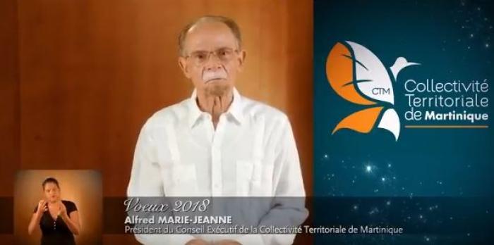 """""""An sèl dwèt paka manjé kalalou"""", les vœux pour 2018 d'Alfred Marie-Jeanne"""