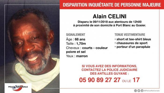Appel à témoins : avez-vous vu Alain Célini ?
