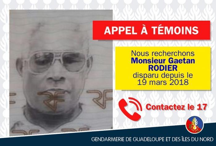 Appel à témoins : avez-vous vu Gaétan Rodier ?