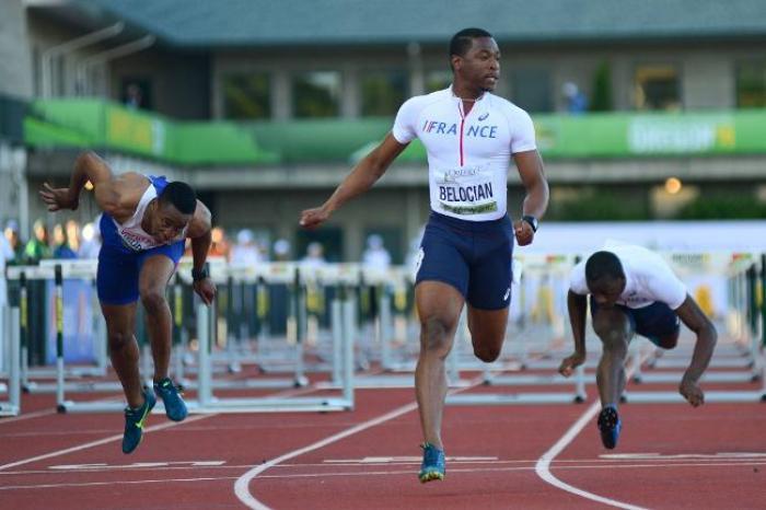 Athlétisme: Bélocian en bronze