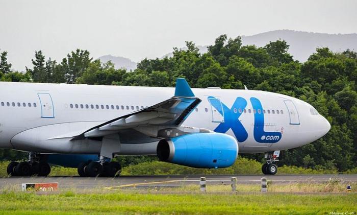 Atterrissage difficile pour un avion de XL Airways à l'aéroport Aimé Césaire