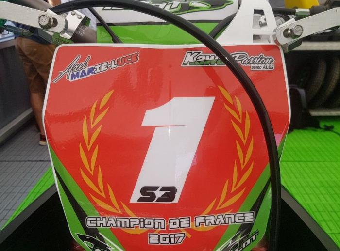 Axel Marie-Luce est champion de France de Supermotard