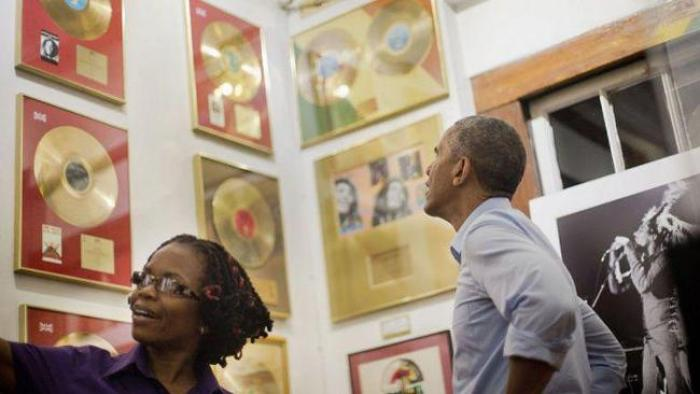 Barack Obama en visite officielle en Jamaïque