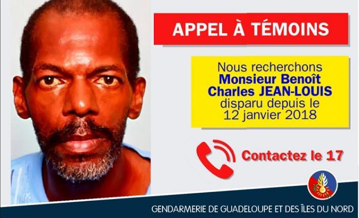 Benoît Charles JEAN-LOUIS a disparu depuis 5 jours
