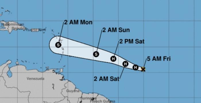 Beryl devient le premier ouragan de la saison 2018
