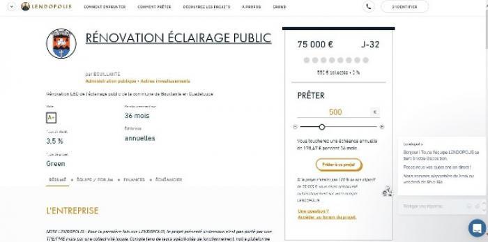 Bouillante fait appel à la participation des internautes pour financer son éclaraige public