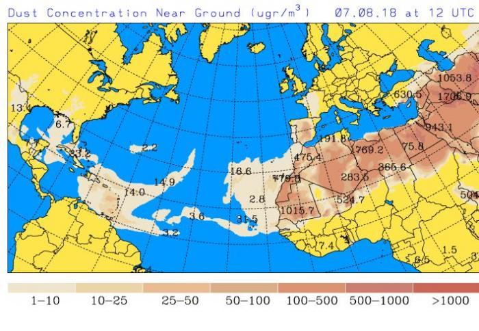 Brume de sable : la procédure d'alerte passe au niveau 2