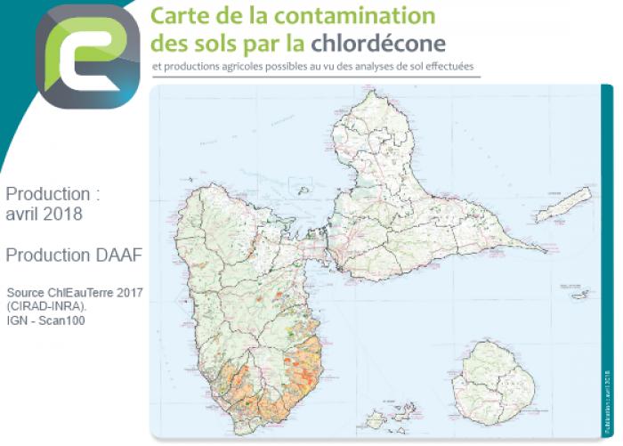 Chlordécone : une carte des sols contaminés consultable