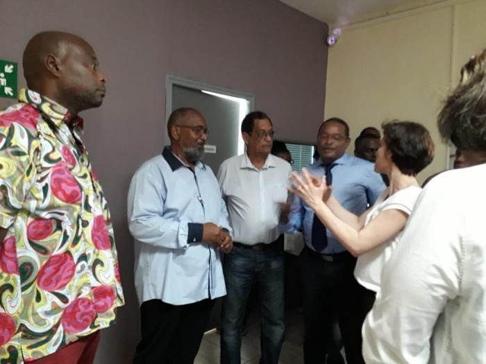 Christelle Dubos a visité l'Acise Samu Social