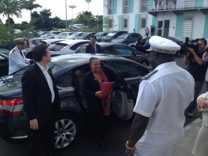 Christiane Taubira en visite au centre pénitentiaire de Ducos (Martinique)