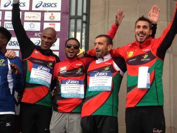 Claude Nohilé est encore champion de France de semi-marathon