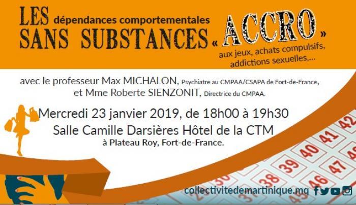 Conférence sur les dépendances comportementales à Fort de France