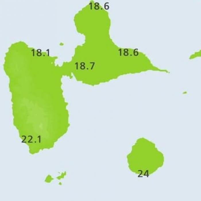 Coup de froid sur la Guadeloupe