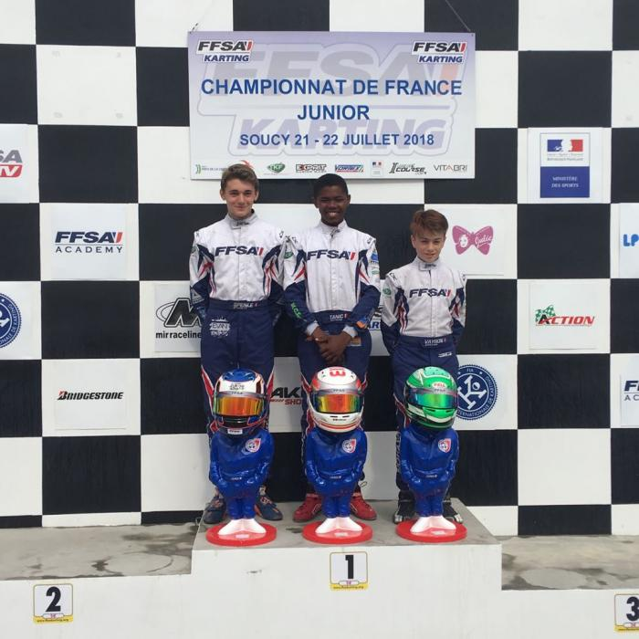 Craig Tanic est champion de France junior de karting