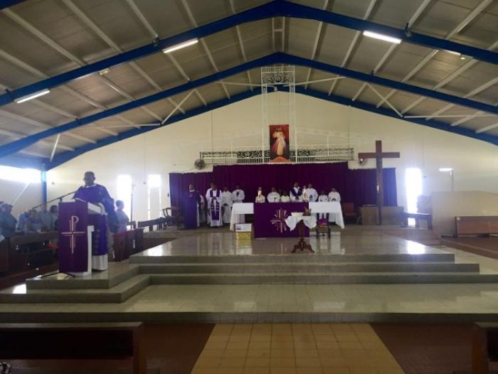 De-Briant : La messe des cendres attire de nombreux fidèles