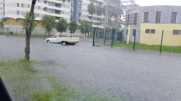 De la pluie, et encore de la pluie ce vendredi matin en Martinique