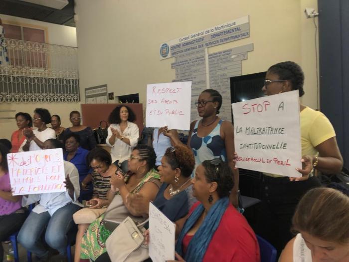 Des agents de la CTM de l'aide sociale en grève