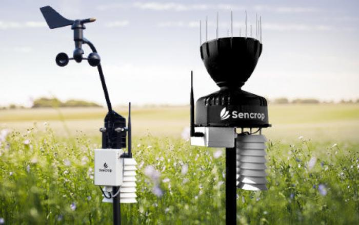 Des stations météo connectées dans les champs des agriculteurs