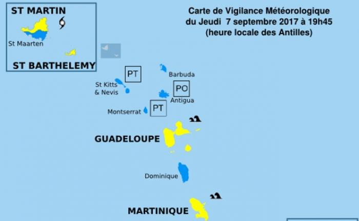 Des vigilances déclenchées dans les îles françaises des Antilles