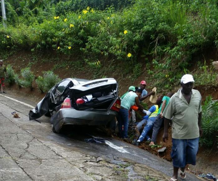Deux blessés dans des accidents de la route à Sainte-Marie et au Lamentin