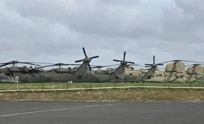 Dominique : 8 hélicoptères américains ont atterri en Guadeloupe