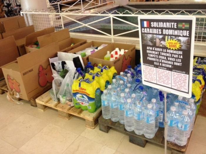 Dominique : la collecte se poursuit