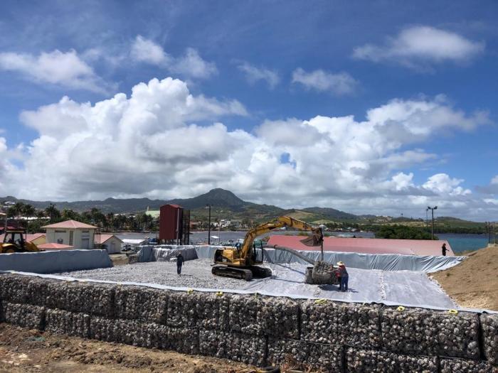 Dragage du port du Vauclin : les travaux préparatoires se poursuivent